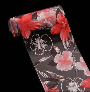 🚚 Flower Series Transfer Foil 4x100cm