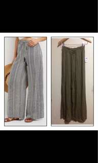 Palazzo pants in small olive green
