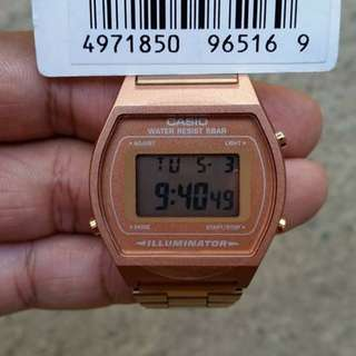 CASIO B640WC Rosegold Watch Limited Edition