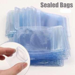50 pcs clear pvc plastic storage packets RESTOCKED!