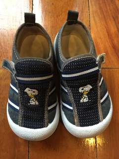 Snoopy White & Navy Blue Sneakers