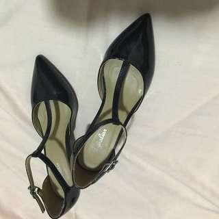Black T-strap Heels