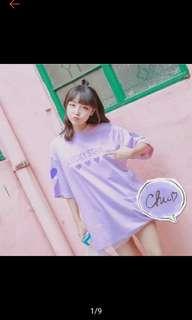 愛心網紗上衣紫 全新未下水 紫