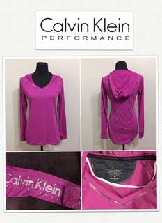 Calvin Klein Performance Quick Dry Logo Hoodie L/S Shirt- Orchid