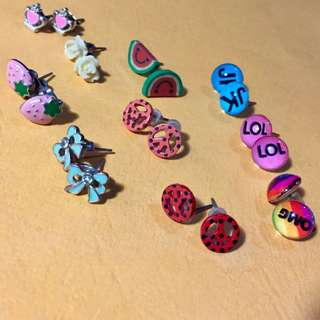 Claire's earrings (all 10 for 50)