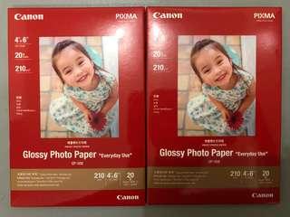 "Canon 相紙 glossy photo paper 210g/m 4x6"" 40張"