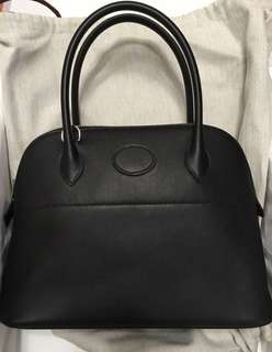 Brand New Hermes Bolide 27 Black Swift PHW