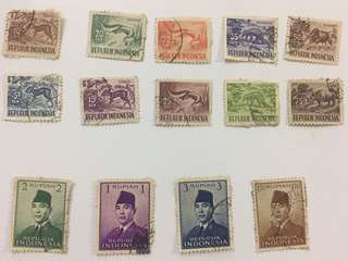 Stamp set binatang sukarno perangko filateli