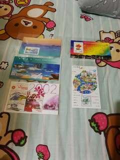 Hong Kong post stamp 香港郵政郵票 青嶼幹線通車紀念香港機場特區成立五週年 特區成立服務市民巡禮2002共五張