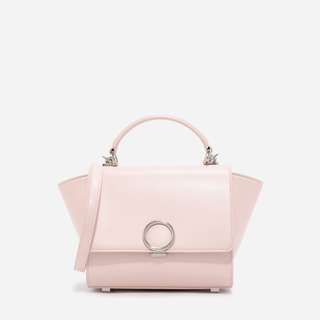 BNWT: AUTHENTIC CHARLES & KEITH PINK PUSH-LOCK TRAPEZE BAG