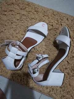 2 Straps Heels (white)