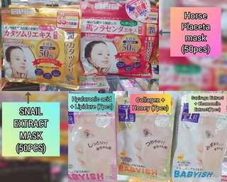 Japan made facial masks
