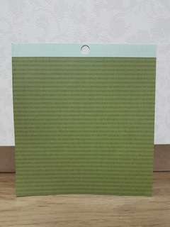 "Pebbles 6x6"" Scrapbooking Paper (Green Grass)"