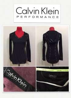 Calvin Klein Performance Quick Dry Logo Hoodie L/S Shirt- Onyx