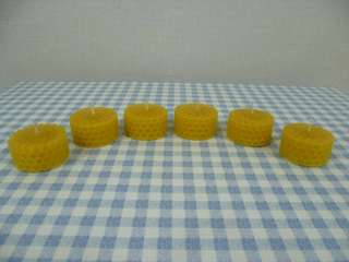 100% pure beeswax tealights - Set of 6 Candles