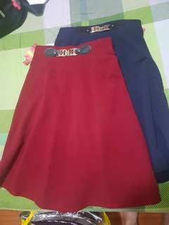 Skirt (maroon and navy blue) - freesize