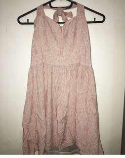 Bby Pink halter dress