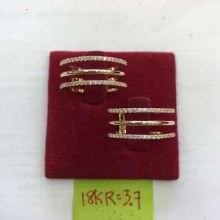Saudi Gold 18k Ladies Ring
