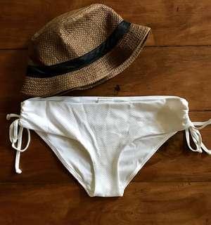 H&M white bikini bottoms