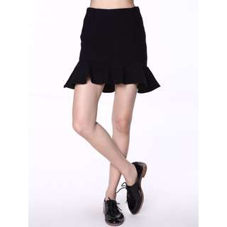 Zara Trumpet Ribbed Knit Skirt