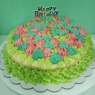 Pastel Forest Chiffon Cake