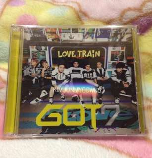 GOT7 Love Train Ver. B Japanese Album [CD + DVD + CHANGEABLE MEMBER COVER] WITHOUT PHOTOCARD