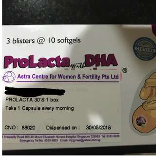 ProLacta with DHA 26 capsules