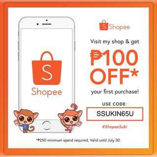 VOUCHER CODE DISCOUNT FOR SHOPEE USERS
