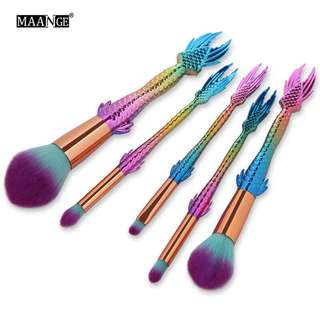 🦋5/10Pcs/set Cosmetic Fish Makeup Brushes Tool🦋