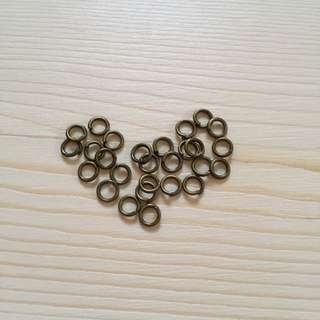 Jump Rings in Bronze 4mm