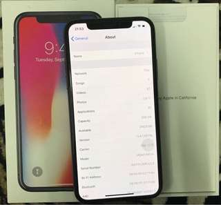 Iphone X 256GB MY Set