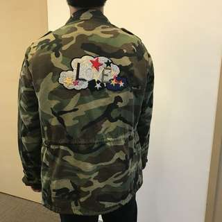 Reduced price !! 3500 Ysl Saint Laurent LOVE force jacket in vintage camouflage cotton