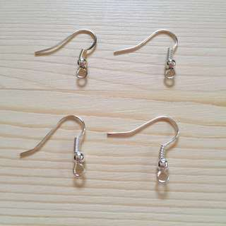 DIY Earring Hook French Ear Wire in Silver or Bronze