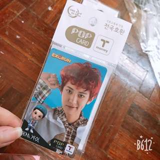 EXO chanyeol t-money card