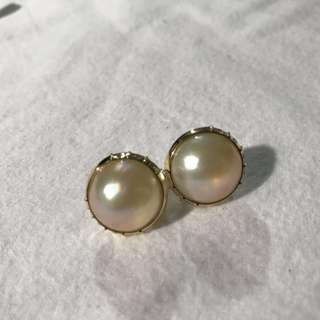 Saltwater Mabe Pearl Clip on Earring