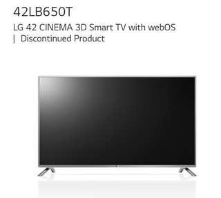 LG Smart TV 42 inch 42LB650T