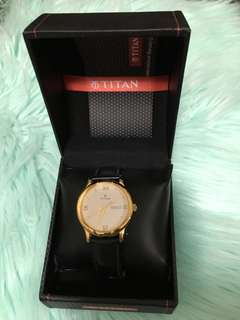 Titan Leather Watch