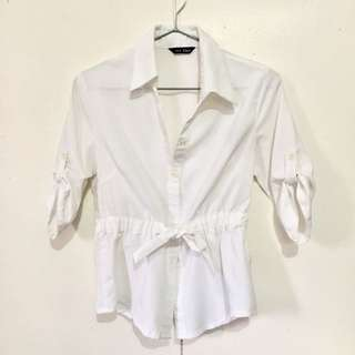 White Polo Blouse