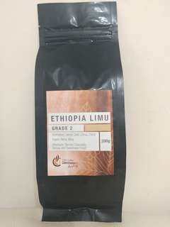 Ethiopia Limu Grade 2, Aftertaste : Berries Chocolate, Syrupy and sweatness finish, 200g (Expiry 08.12.2018)