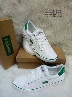 LACOSTE SHOES  Size: 36,37,38,39,40 Always Provide Euro Size  Price : 850