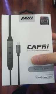 全新 AAW Capri Lightning 有Mic 線 MMCX CM 2-Pin 支援 iPhone iOS iPad 手機免提