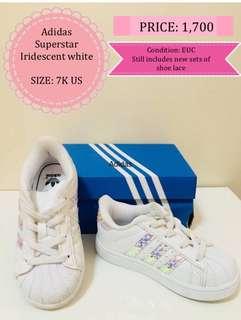 QPRELOVED Authentic Adidas Kids - Superstart Iridescent white