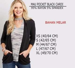 Branded Maurices Pocket Black Cardigan