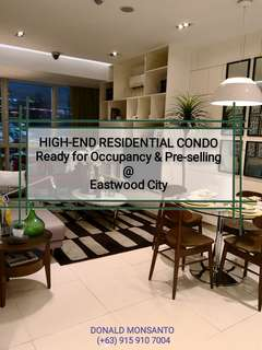 Eastwood High-End Condominiums - Ready for Occupancy & Pre-selling