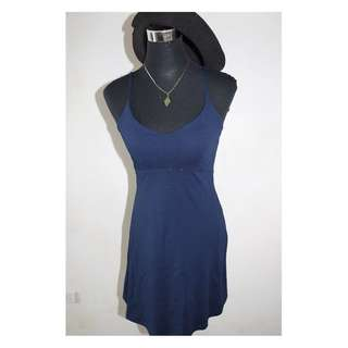 Sleeveless Dark Blue Dress