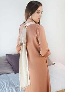 Satin Jubah / Maxi Dress
