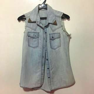 Crissa Denim Sleeveless Top