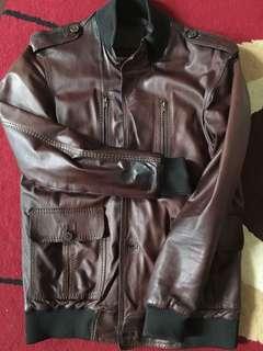 Ghazi Leather Jacket Dark Brown Pilot not selvedge denim