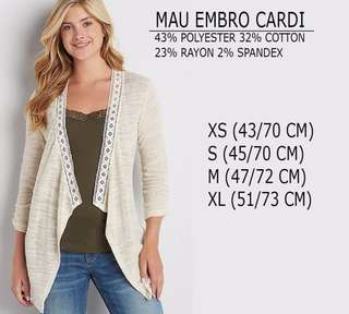 Branded Maurices Embro Cardigan