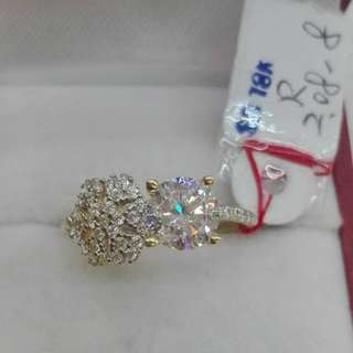 ( size: 8 ) 18K SAUDI GOLD RINGS ...''''